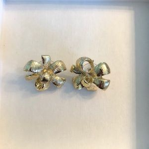 Lilly Pulitzer Large Gold Bow Earrings